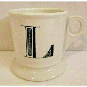 Anthropologie Monogram Coffee Mug Personalized L